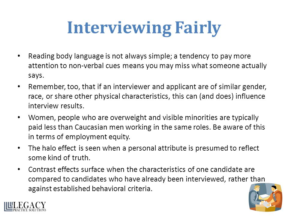 Interviewing Fairly