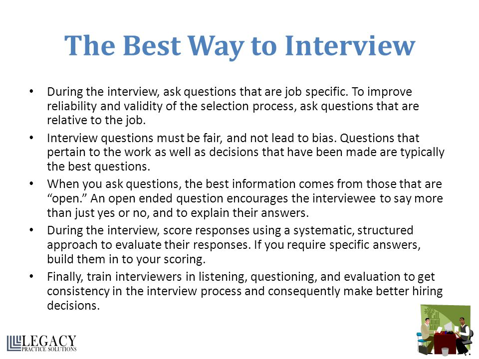 The Best Way to Interview