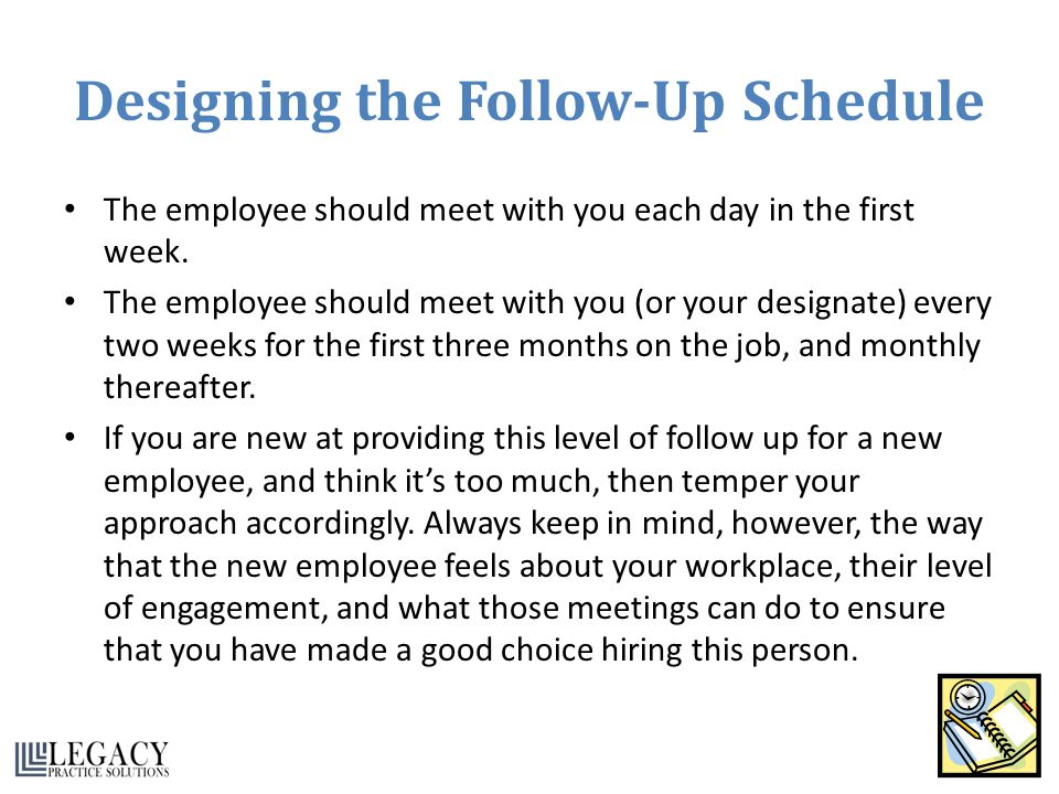 Designing the Follow-Up Schedule