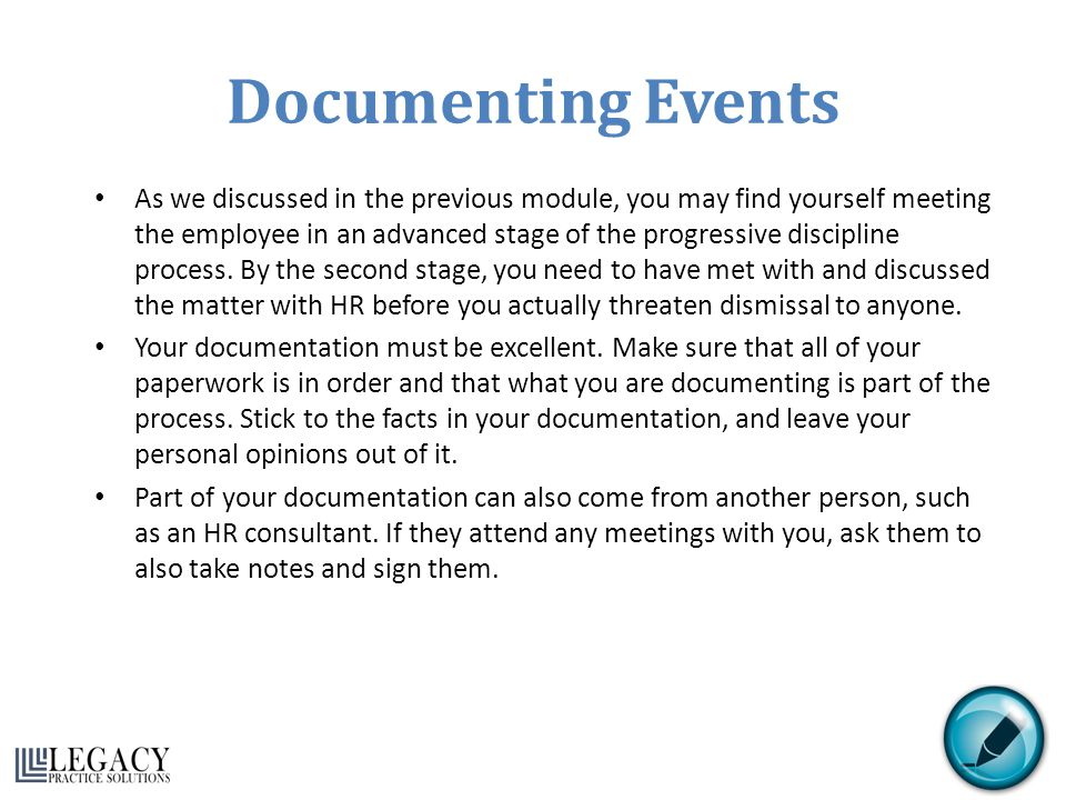 Documenting Events
