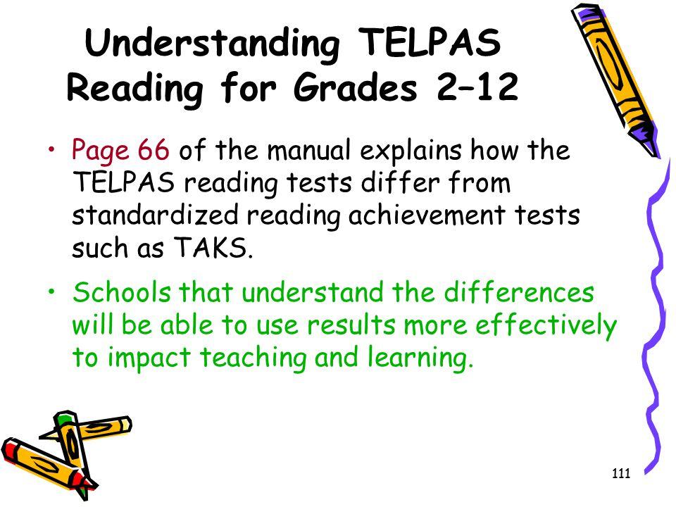 Understanding TELPAS Reading for Grades 2–12