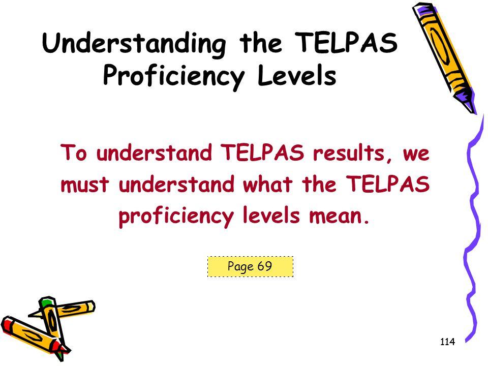 Understanding the TELPAS Proficiency Levels