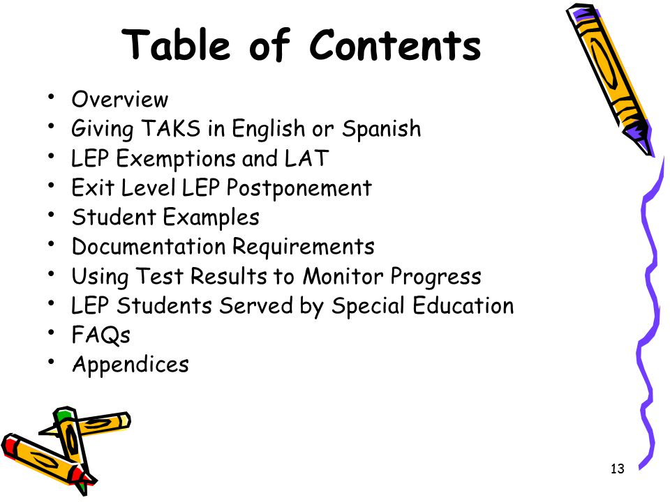 Table of Contents Overview Giving TAKS in English or Spanish