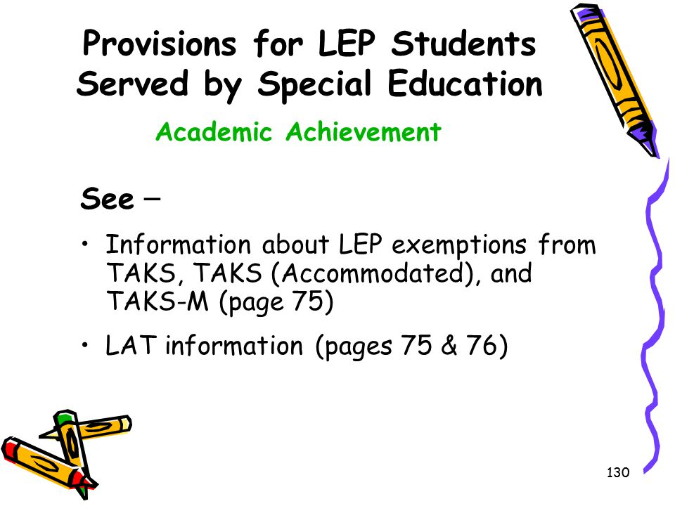 Provisions for LEP Students Served by Special Education