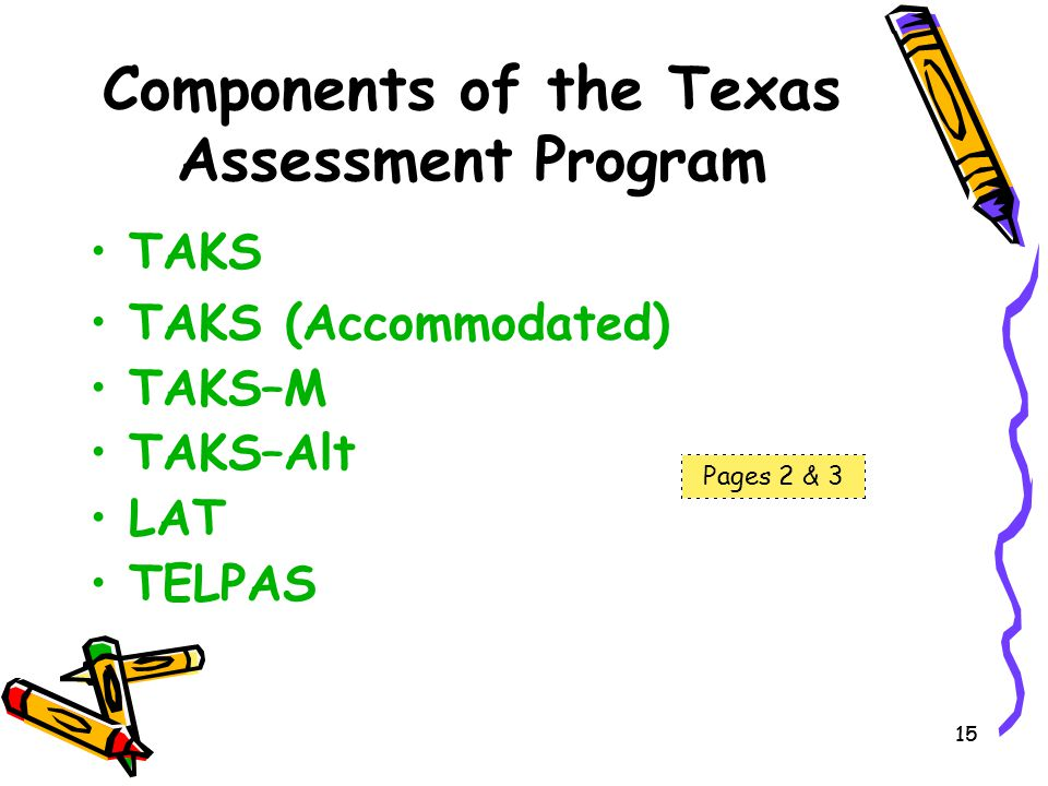 Components of the Texas Assessment Program
