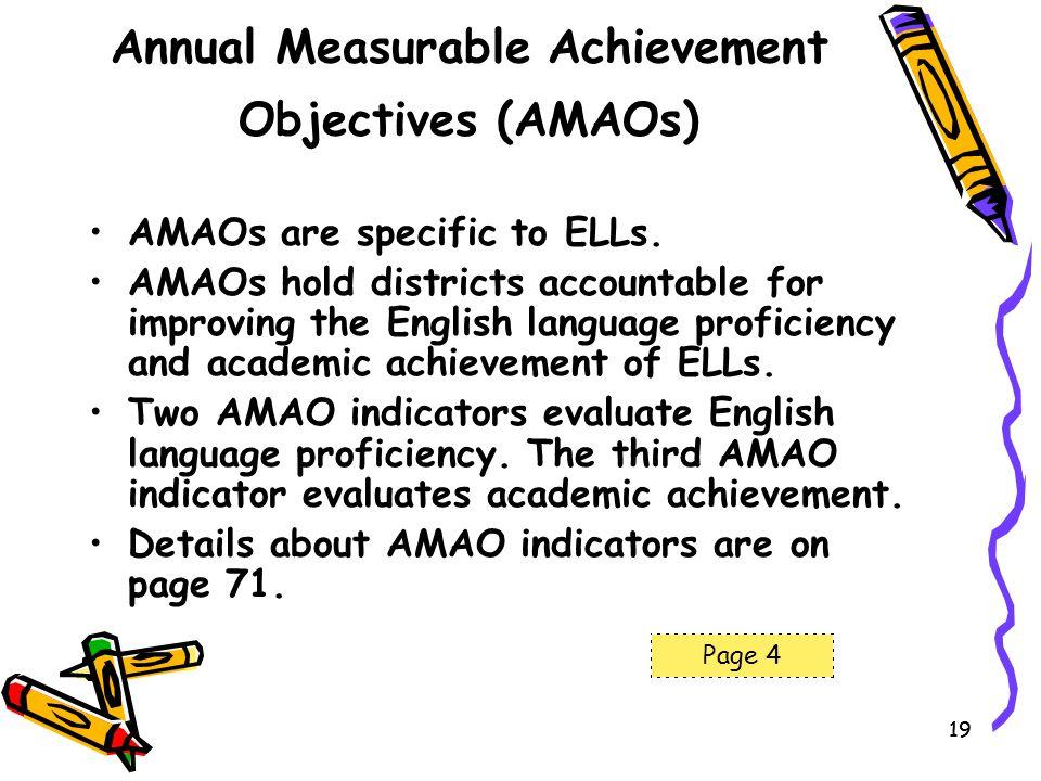 Annual Measurable Achievement Objectives (AMAOs)