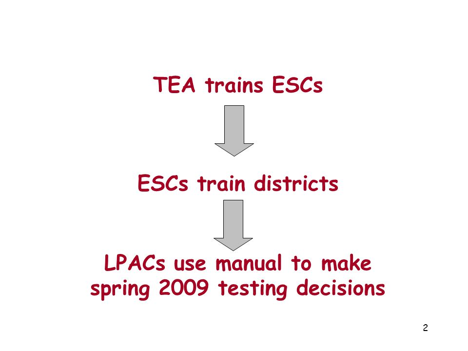 LPACs use manual to make spring 2009 testing decisions