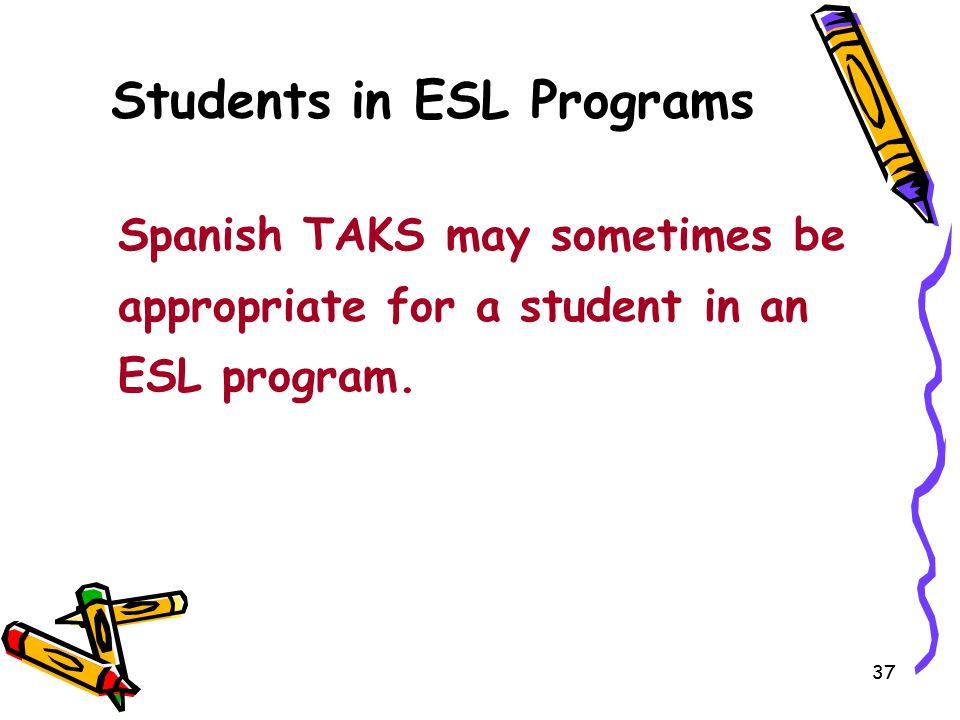Students in ESL Programs