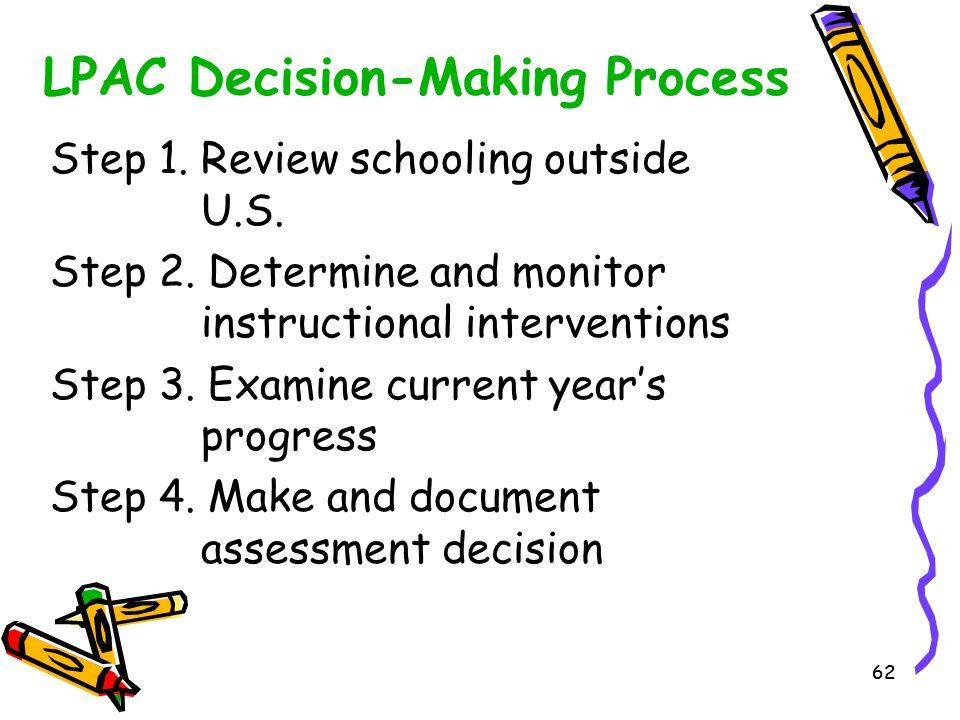 LPAC Decision-Making Process