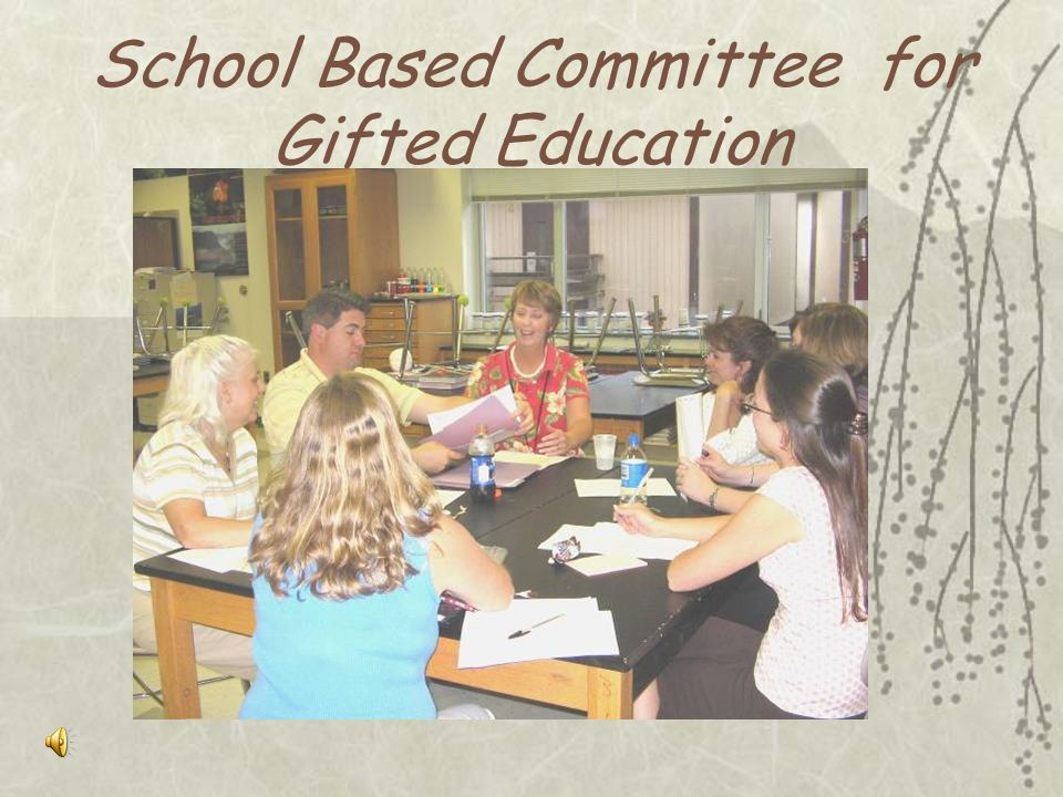School Based Committee for Gifted Education