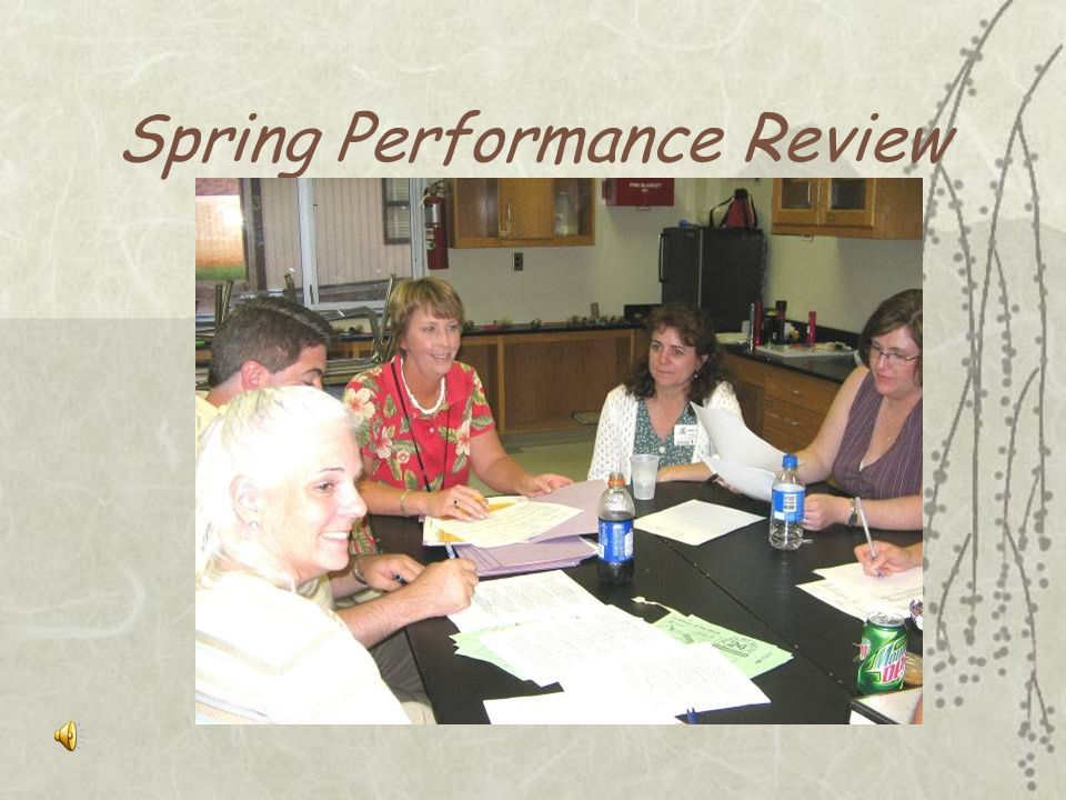 Spring Performance Review