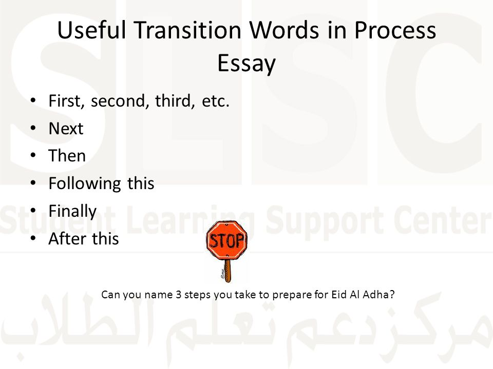 Common Transitions Words and Phrases