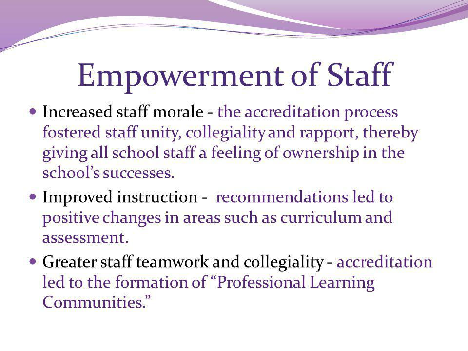 Empowerment of Staff