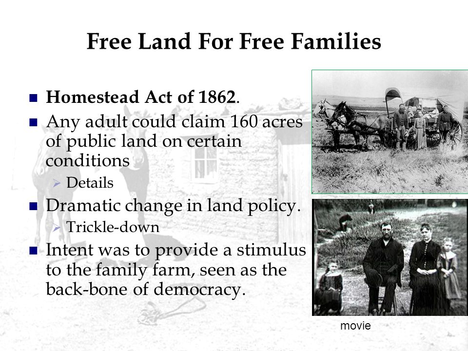 Free Land For Free Families