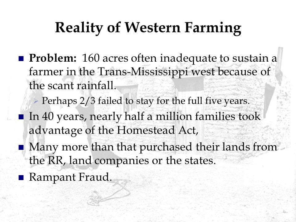 Reality of Western Farming