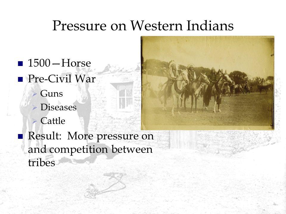 Pressure on Western Indians