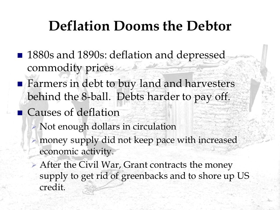 Deflation Dooms the Debtor