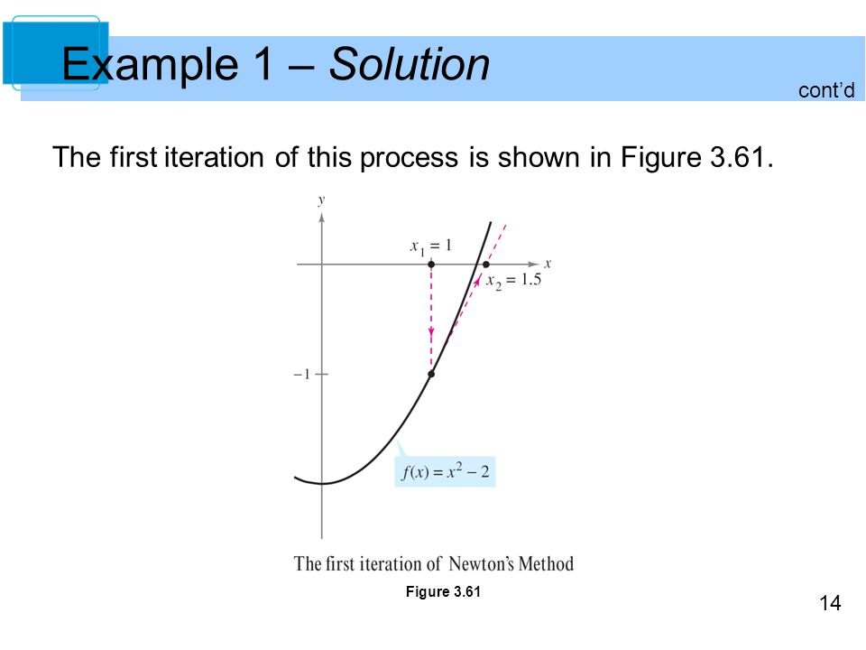Example 1 – Solution cont'd. The first iteration of this process is shown in Figure 3.61.