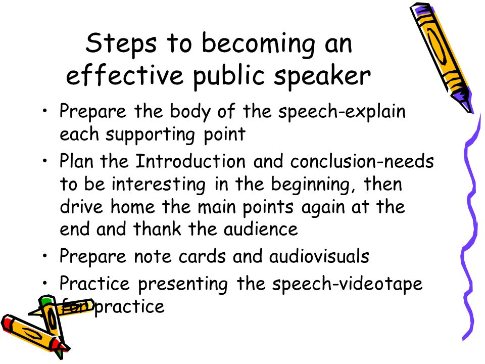 Steps to becoming an effective public speaker