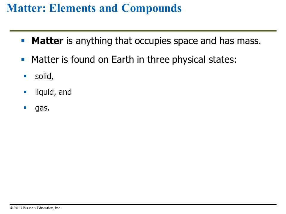 Matter: Elements and Compounds