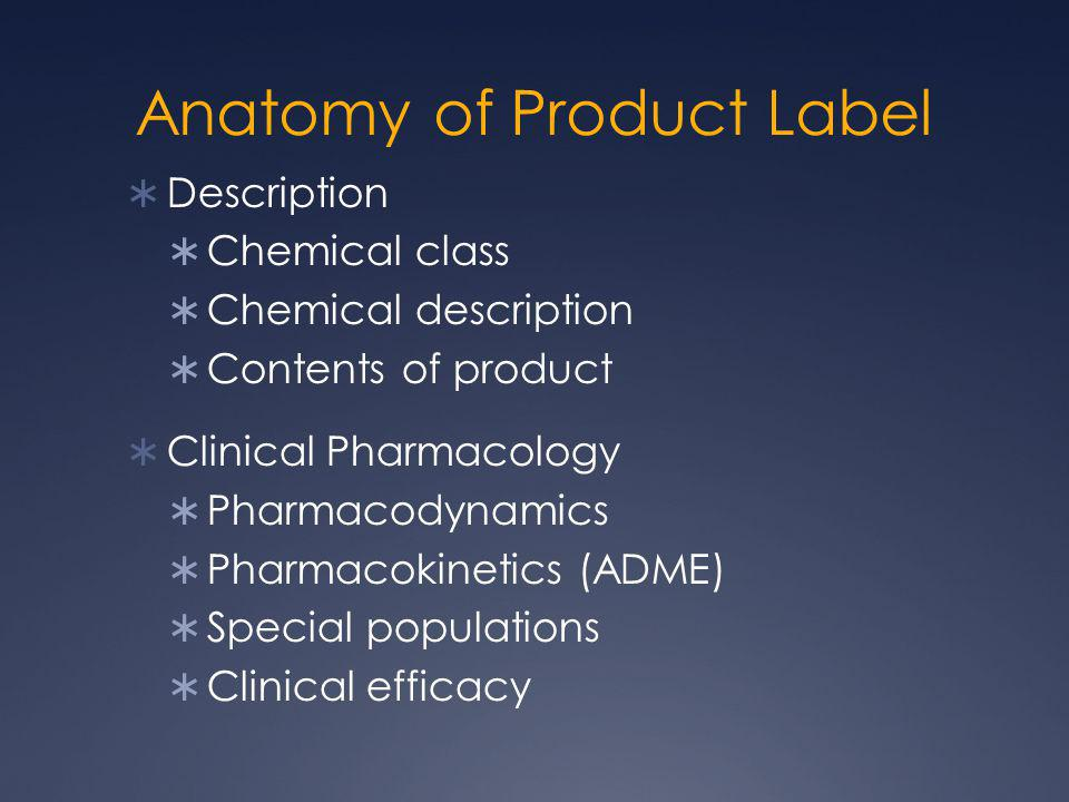 Anatomy of Product Label