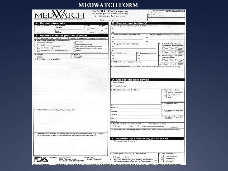 MEDWATCH FORM