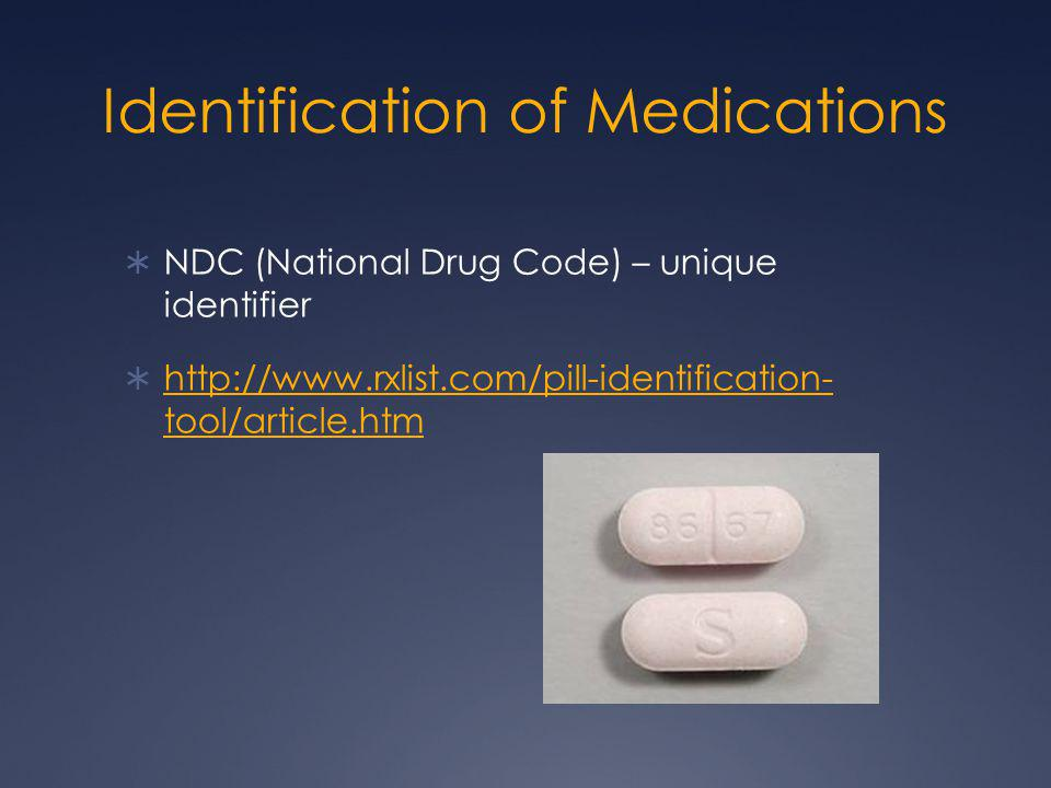 Identification of Medications