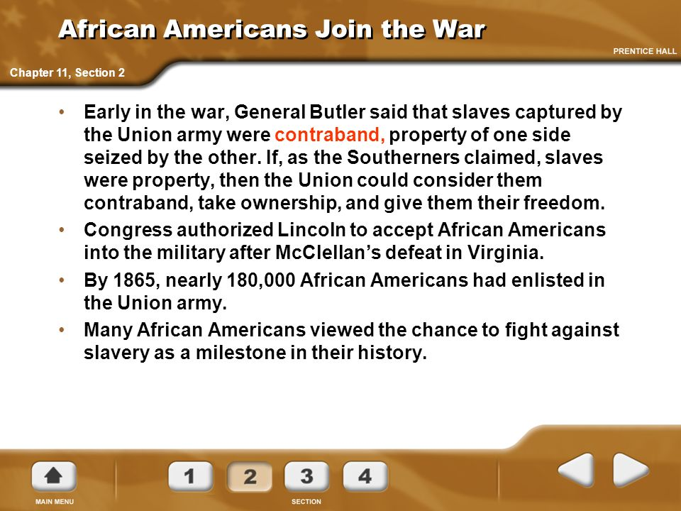 African Americans Join the War