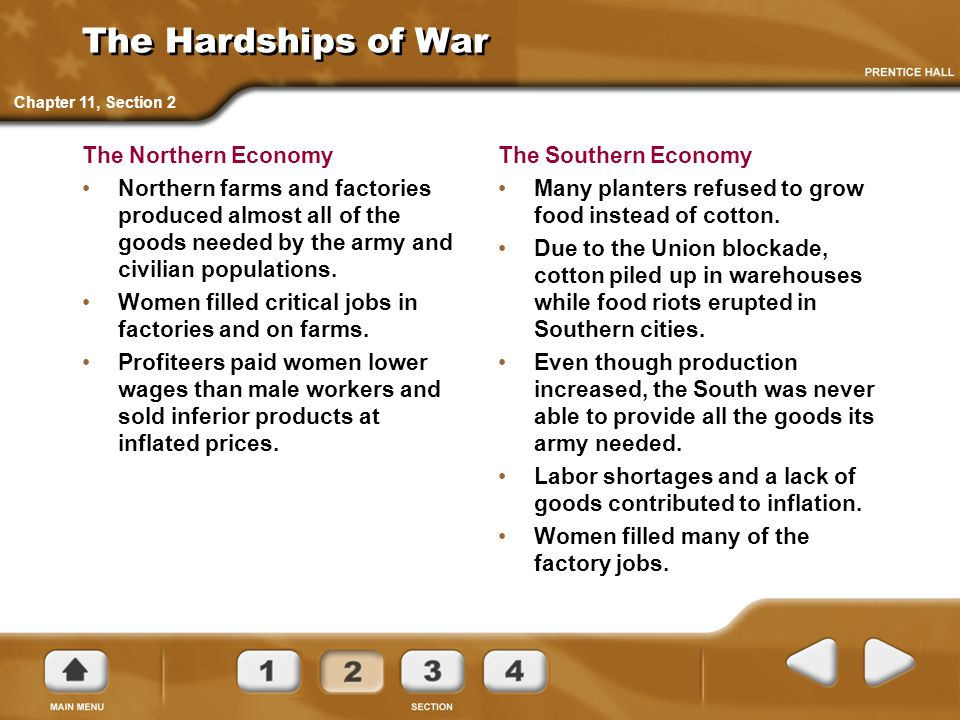 The Hardships of War The Northern Economy