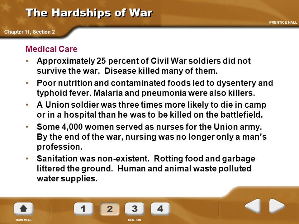 The Hardships of War Medical Care