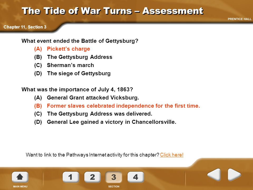 The Tide of War Turns – Assessment