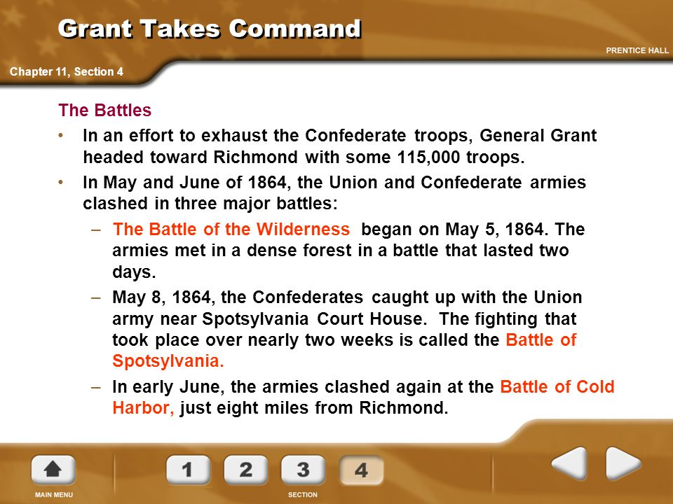 Grant Takes Command The Battles