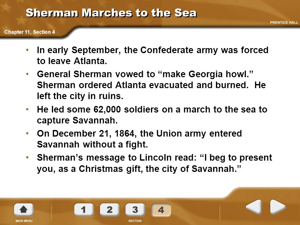 Sherman Marches to the Sea