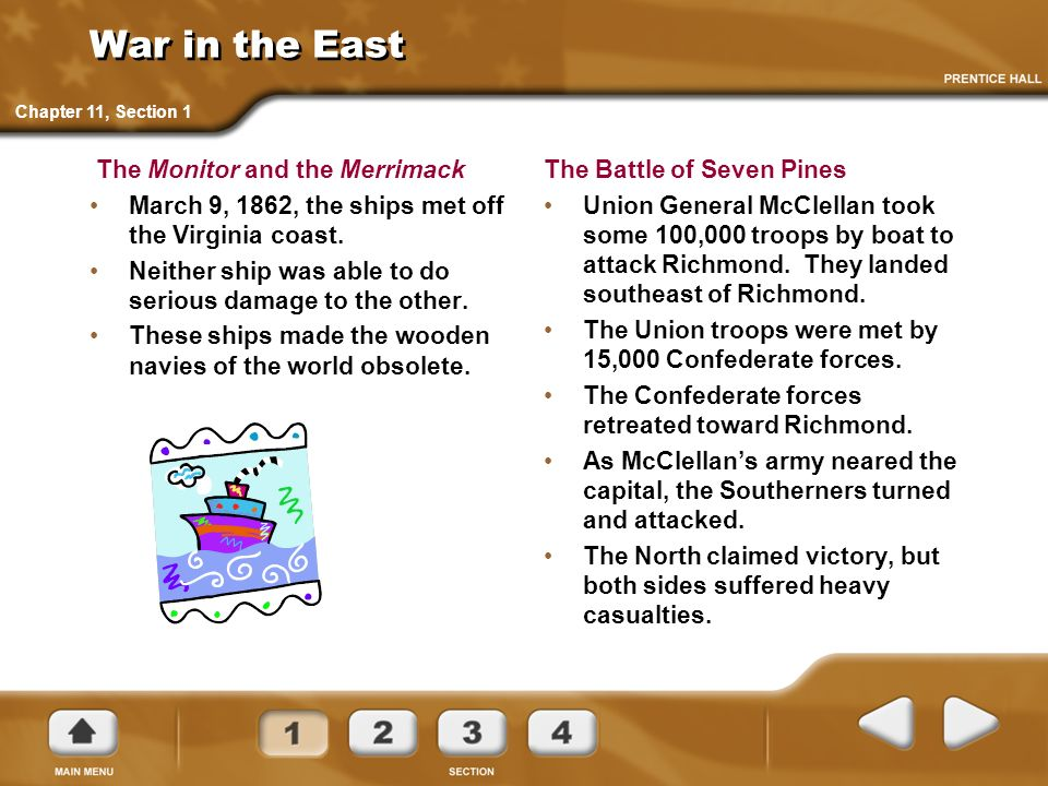 War in the East The Monitor and the Merrimack