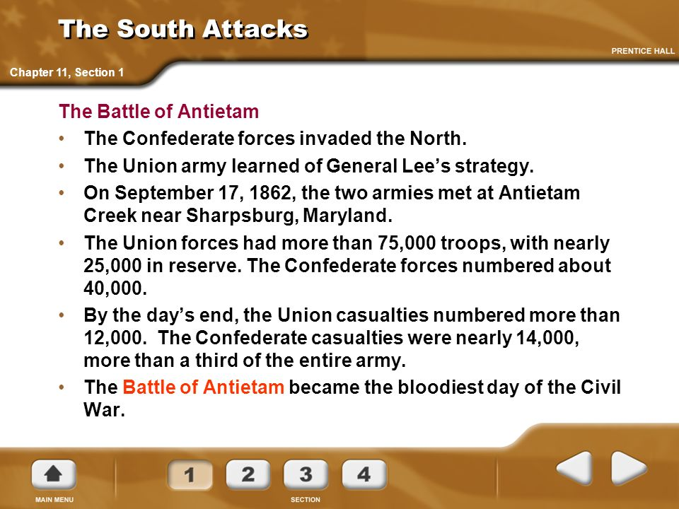The South Attacks The Battle of Antietam