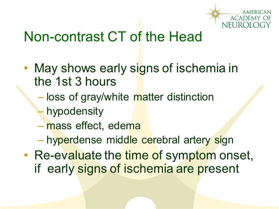 Non-contrast CT of the Head