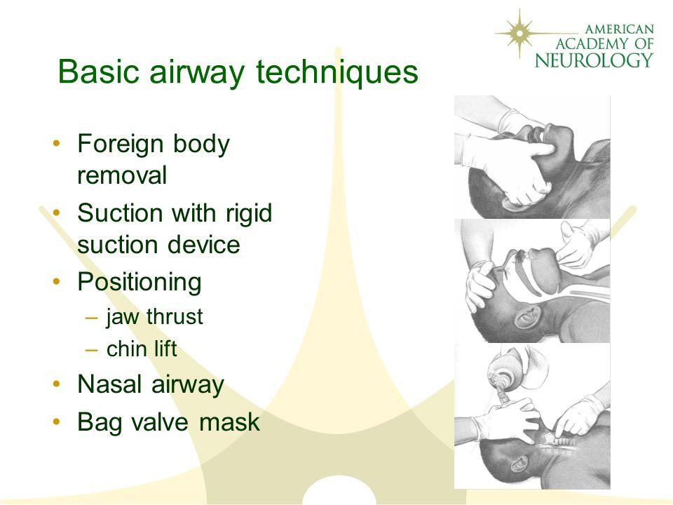 Basic airway techniques