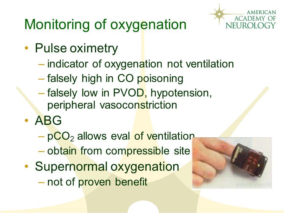 Monitoring of oxygenation
