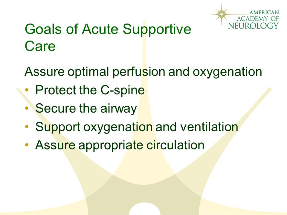 Goals of Acute Supportive Care