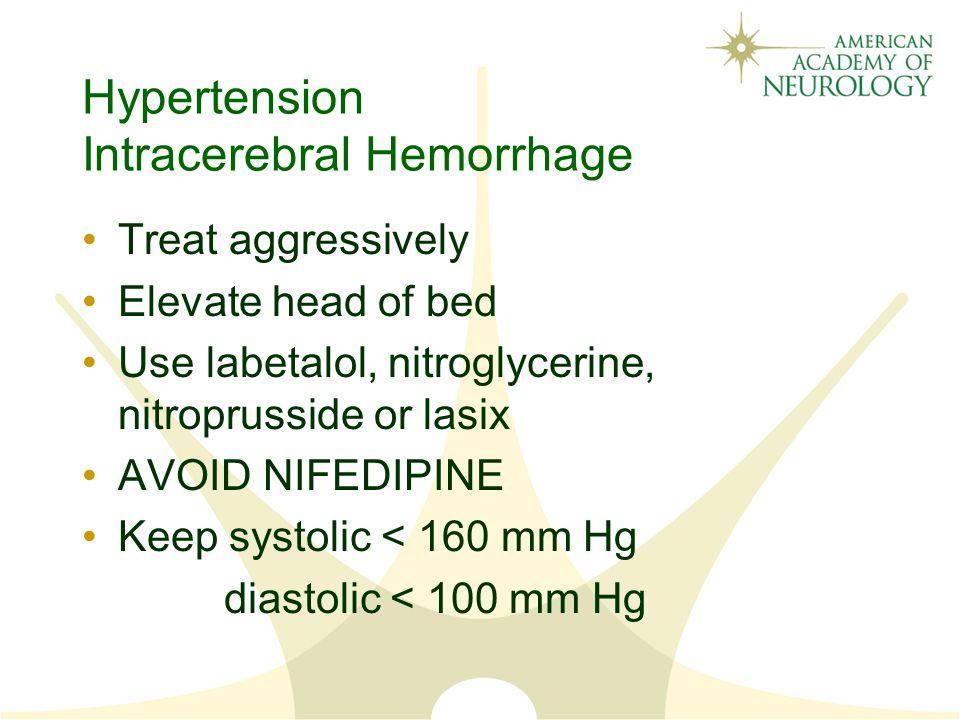Hypertension Intracerebral Hemorrhage