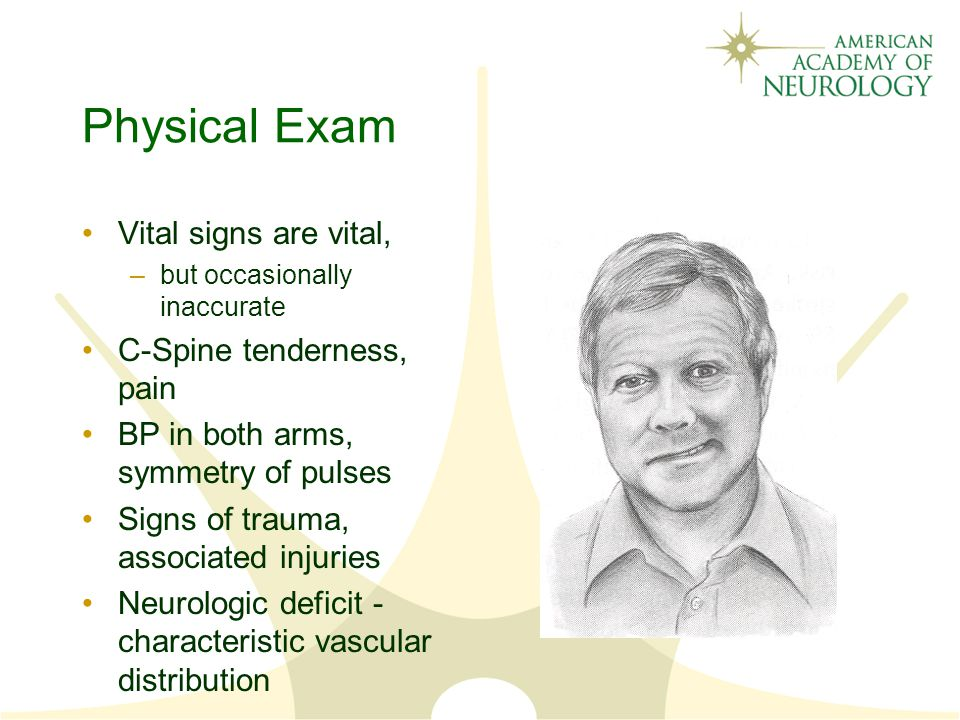 Physical Exam Vital signs are vital, C-Spine tenderness, pain