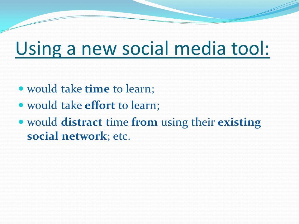 Using a new social media tool: