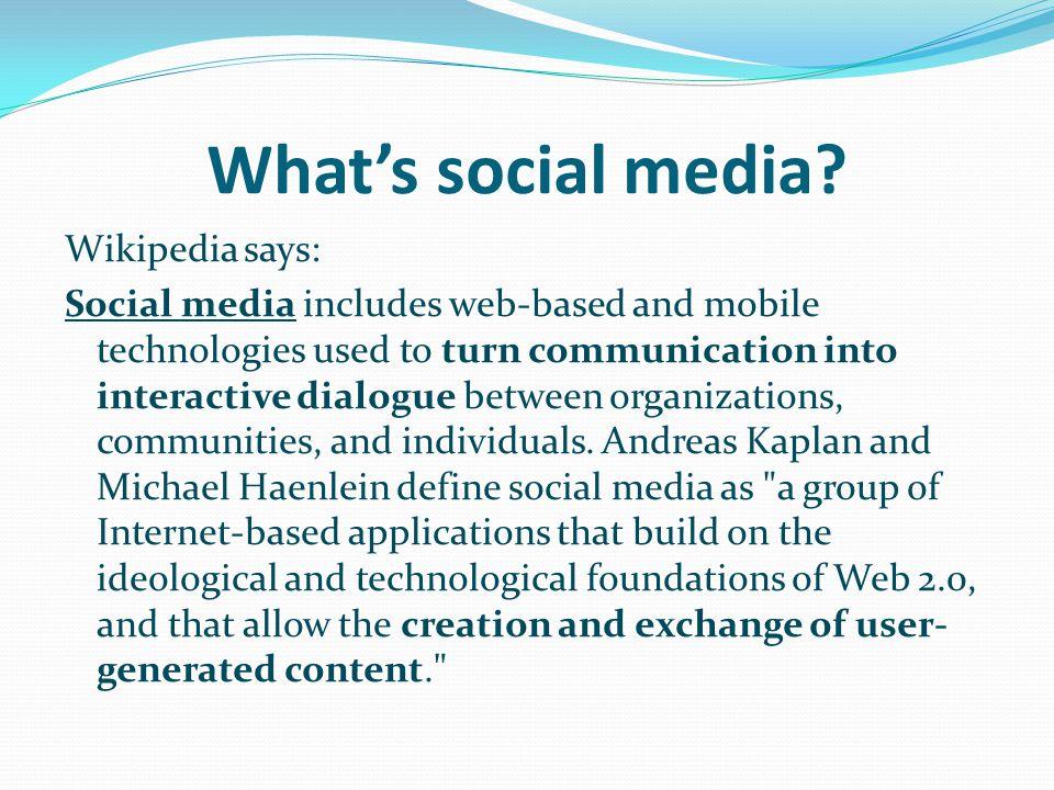 What's social media