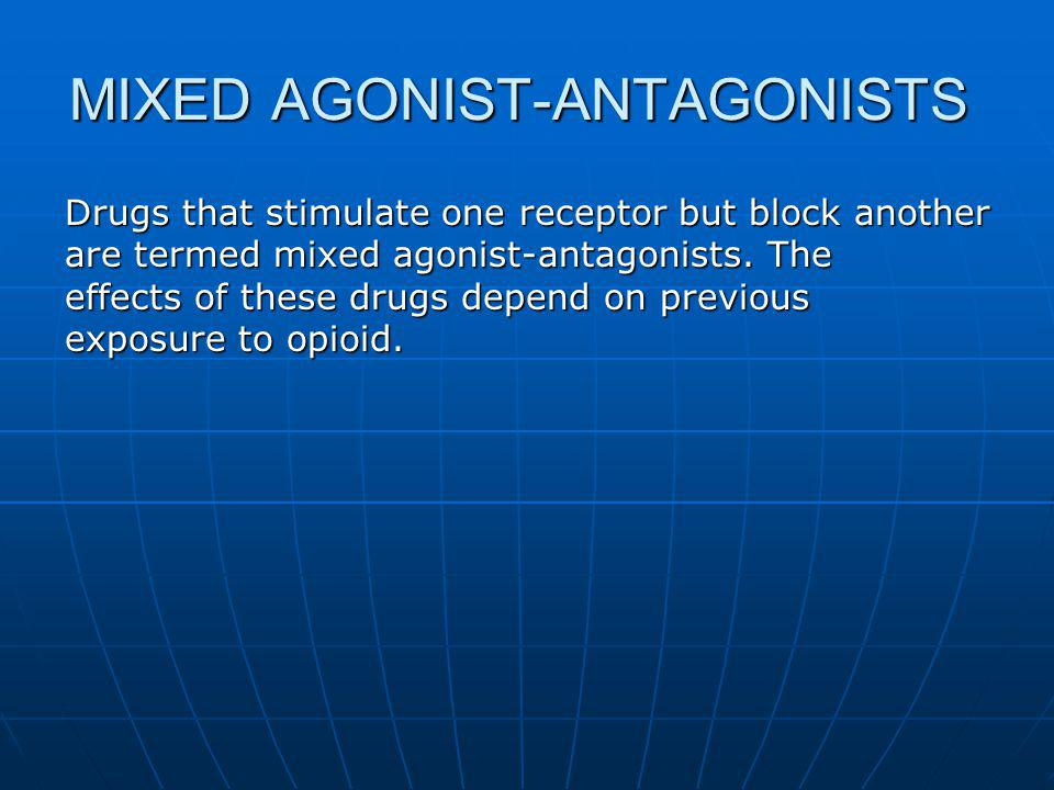 MIXED AGONIST-ANTAGONISTS