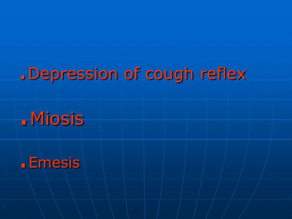 .Depression of cough reflex