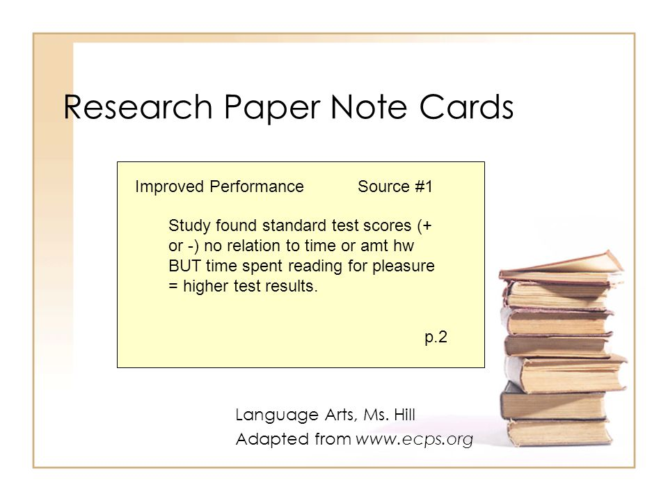 notecards paper research Your research note cards should include all the information necessary to write your term paper you should take extreme care as you create these note cards, to provide yourself clear.