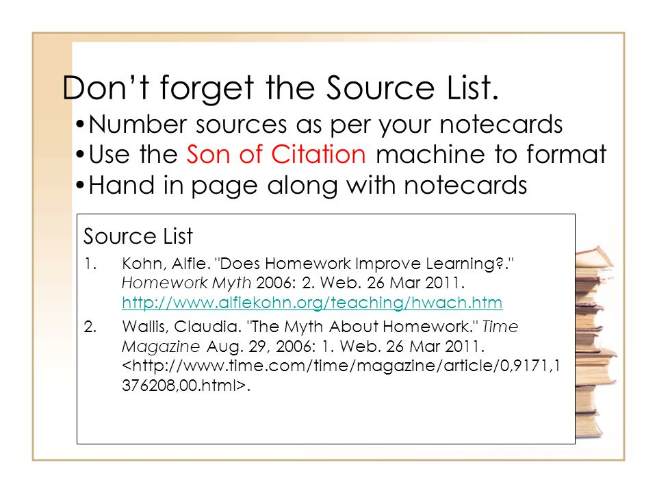 Don't forget the Source List.