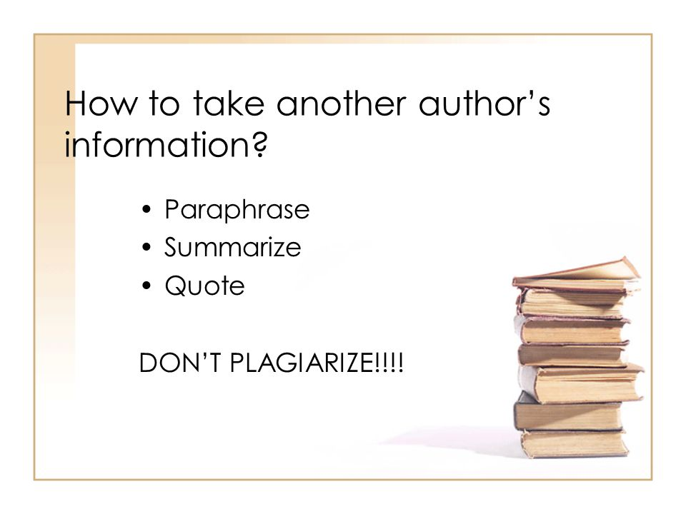 How to take another author's information