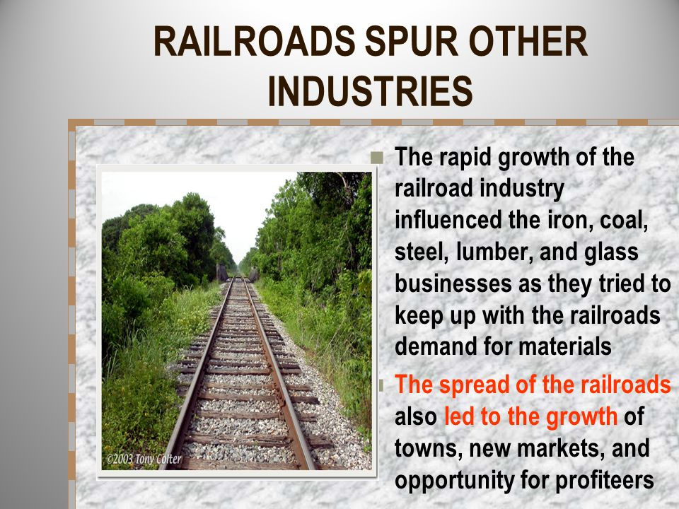 RAILROADS SPUR OTHER INDUSTRIES