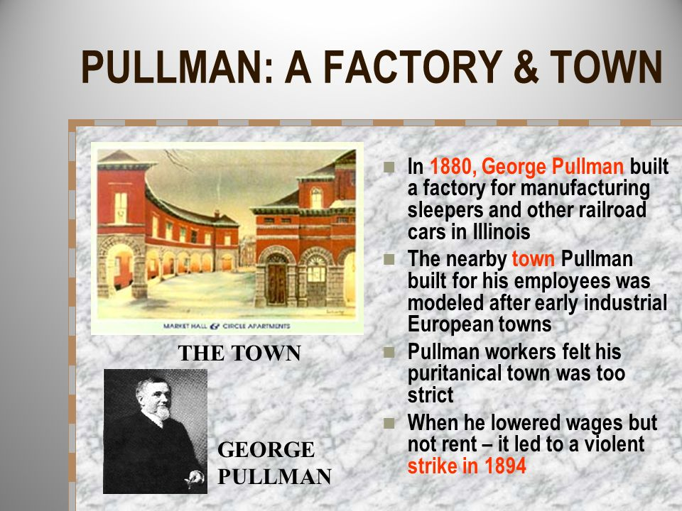 PULLMAN: A FACTORY & TOWN